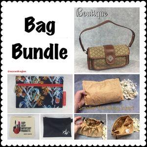 Handbags - 👜 Bag Bundle—Satchel, liner and cosmetics bags